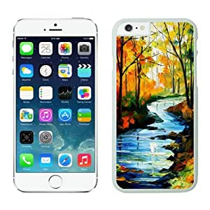 Iphone 6 Plus Case 5.5 Inches, Nice Art Landscape White Hard Phone Cover Case for Apple Iphone 6 Plus Mobile Accessories