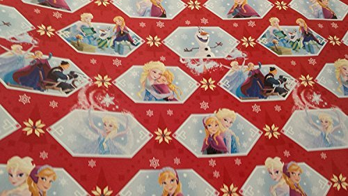 Disney Frozen Christmas Wrapping Paper Olaf Elsa Anna Red Blue Gift Wrap - 2 Rolls