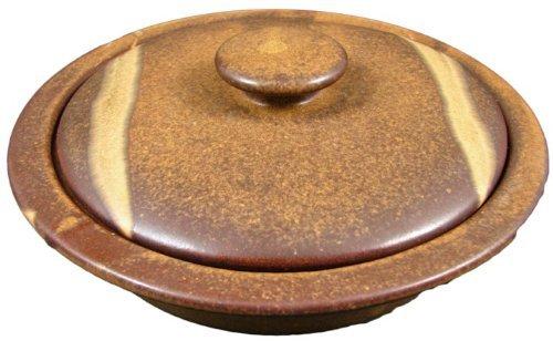 PRADO STONEWARE COLLECTION - Collectible & Functional Casserole Baking Dish / Tortilla Warmer - Rustic Brown Functional Casserole Baking Dish