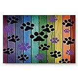 Dirty Dog Paw Prints Doormats Entrance Front Door