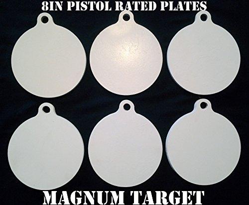 8 Inch Diameter Metal Targets-Metal Shooting Targets-Metal Pistol Targets-6pcs