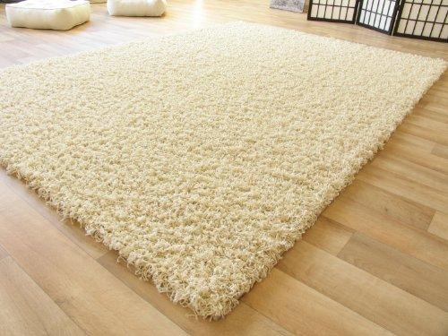 Shaggy Hochflor Teppich Funny Langflor Teppich in beige mit Öko-Tex Siegel, Größe: 65x130 cm