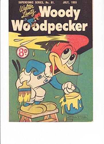 Woody Woodpecker Art - SuperComic Series No.81 Woody Woodpecker Painting Cover Australian Copy