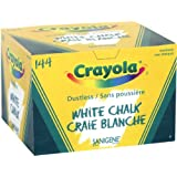 Crayola 144 White Sanigene Dustless Chalk, School and Craft Supplies, Teacher and Classroom Supplies, Gift for Boys and Girls, Kids, Ages 3,4, 5, 6 and Up, Arts and Crafts