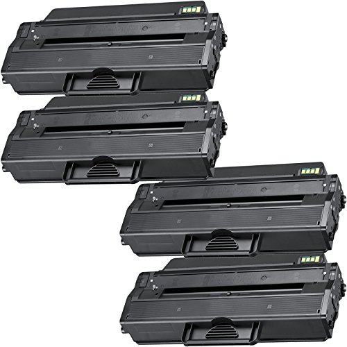 4 Inktoneram® Replacement toner cartridges for Samsung D103L replacement for Samsung MLT-D103L Toner Cartridge ML-2951ND ML-2951D/GOV ML-2950D ML-2950ND ML-2950ND/GOV ML-2955ND ML-2955DW SCX-4728FD SCX-4728FD/GOV SCX-4729FW SCX-4729FD