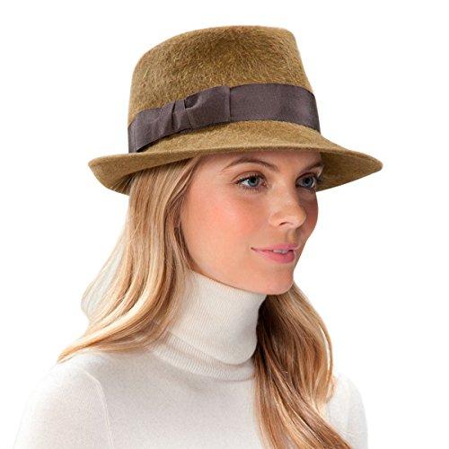 Eric Javits Luxury Fashion Designer Women's Headwear Hat - Velour Classic Hat - Brown by Eric Javits