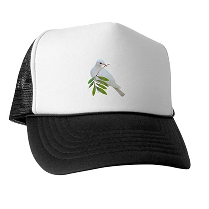 Amazon.com  CafePress - Dove Olive Branch - Trucker Hat 2506ab9a229