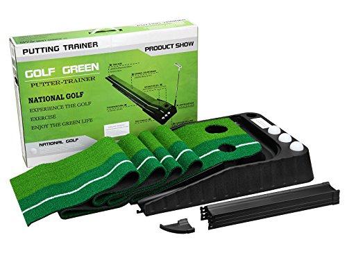 Premium Golf Putting Mat With 3 Golf Balls-10FT Lenth
