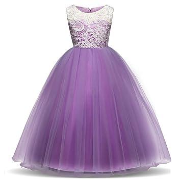 fe3b4f54b ChenYongPing Vestido para niños Vestido de Dama de Honor Vestido de Fiesta  para Fiesta de Cumpleaños Vestido de Niños Vestido de Encaje Edad 4-15 Años  ...