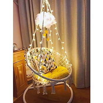 Amazon Com Sonyabecca Led Hanging Chair Light Up Macrame