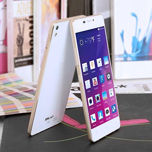 BLU Vivo Air Unlocked Cellphone, 16GB, White/Gold