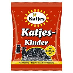 Kinder Licorice Cat-Shaped Drops 200g licorice pieces by Katjes