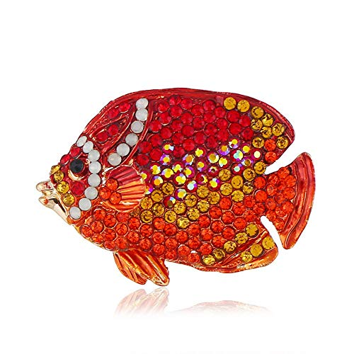 - SKZKK Gifts for Women Cute Pins Tropical Fish Brooch Pins Space Broaches and Pins for Women Pins for Jackets Handmade Craft Crystal Diamond Alloy Plating,Red