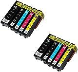 10 (2 SETS) Compatible Printer Ink Cartridges for Epson 33XL XP-530, XP-540, XP-630, XP-635, XP-640, XP-645, XP-830, XP-900 | T3351, T3361, T3362, T3363, T3364