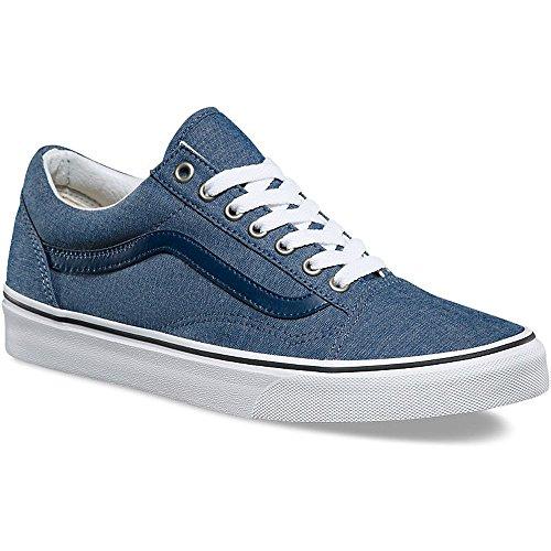 Vans VA38G1MMM Unisex Old Skool (C&L) Skate Shoes, Chambray Blue, 9.5 B(M) US Women / 8 D(M) US - 2132 Us