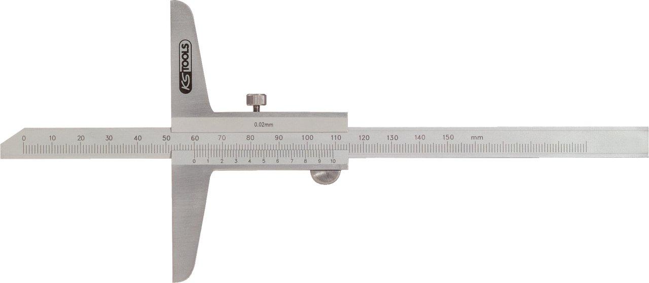 KS Tools 300.0572 Tiefenmessschieber 0-200mm