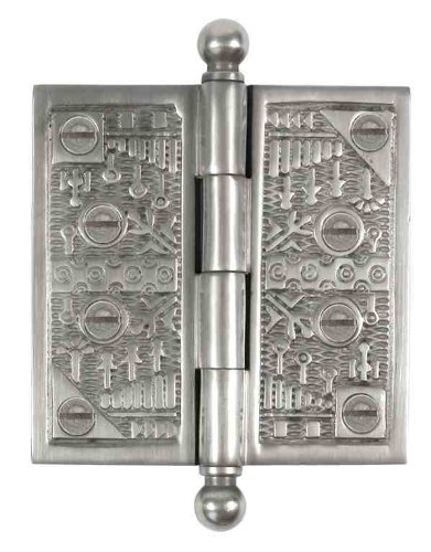 - Brass Elegans WC006PWT Solid Brass Windsor Design Decorative Door Hinge with Brass Screws, 4-Inch, Pewter Finish