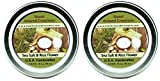 Premium 100% Soy Candles - Set of 2- 2 oz.Tin- Sea Salt & Rice Flower - A clean, spa like scent. Notes rice flower, citrus,cotton blossoms, jasmine, grey sea salt, bamboo leaves and musk.