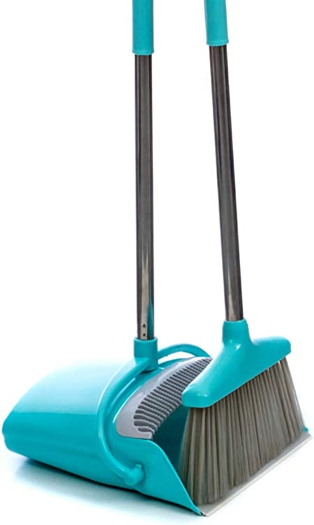 Office Dust Pan With Extendable Broomstick For Easy Sweeping Easy Assembly Great Use For Home Kitchen ergdf57 betty