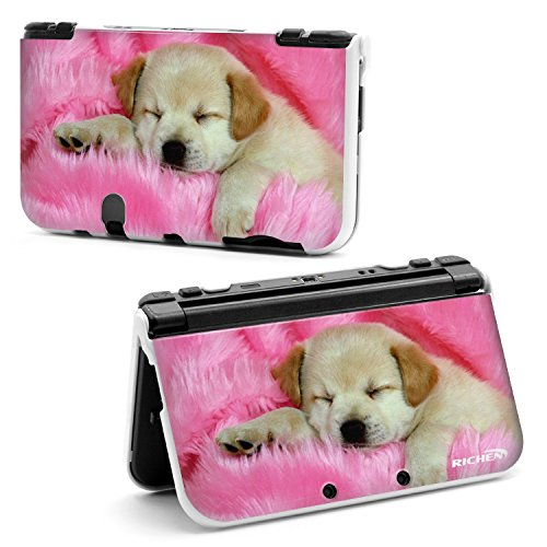 RICHEN Plastic Hard Skin Case Cover Protector Shell for Nintendo New 3DS XL LL(Lying Dog)