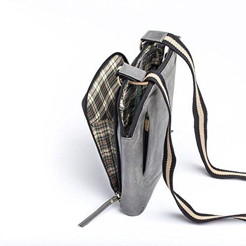 Dudu - Sac porté épaule - Vintage - Pierre - Noir - Homme