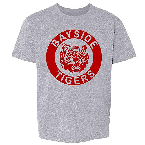 Bayside Tigers 90s Retro Halloween Costume Sport Grey S Youth Kids Girl Boy T-Shirt