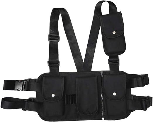 Bolsa para el Pecho Tipo walkie Talkie cintur/ón de Pecho Ajustable Universal Radios de Dos v/ías Bolsa de Transporte Estuche de Nylon Accesorio para el Trabajo de Rescate