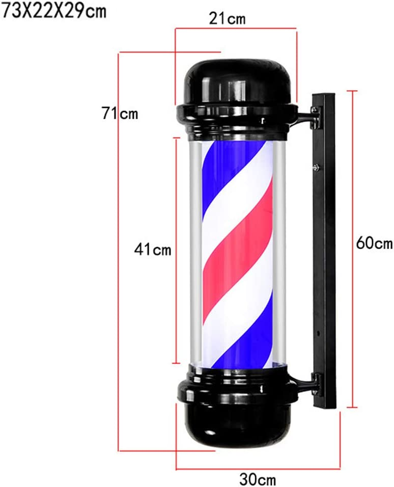 Outdoor Classic Style Rotating Hair Salon Barber Shop Open Sign Red White Blue Strips W//Glowing Globe Light Wall-Mounted Waterproof Save Energy Led Barber Pole Light