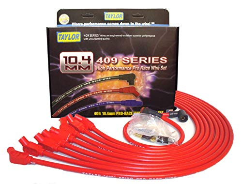 Taylor Cable 79232 Red 10.4mm Custom Race-Fit Spiro Pro Race Spark Plug Wire Set