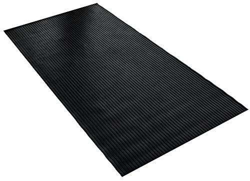BDK GMT330 Black 8' x 4' Flextough Mat-8 x 4 ft-Thick Heavy Duty Rubber Floor Protector for Garage, Shop, Parking, Patio, (Motorcycle Garage Mat)
