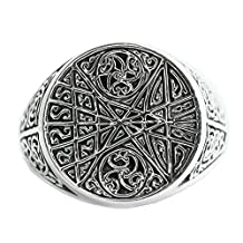 Bishilin Men's Rings Silver Plated Celtic Knot Friendship Rings for Him Anniversary Silver