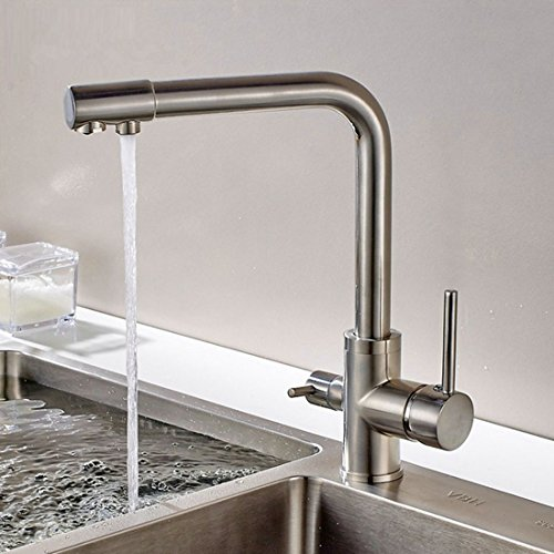 Sccot 3 Way Kitchen Taps, Drinking Water, Hot and Cold Water 2 Handle...