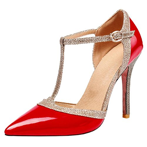 Rojo T Correa Moda Sandalias EN Stiletto Coolcept Mujer qFgWwX00