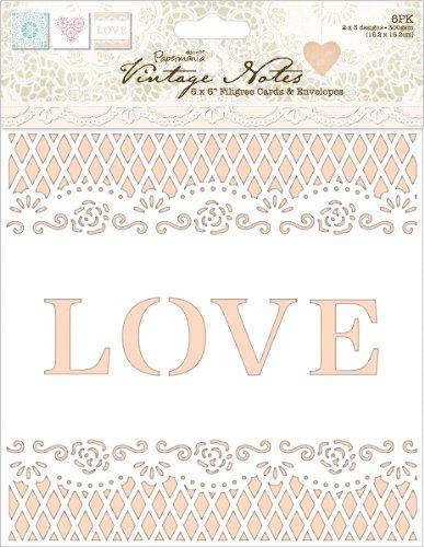 (Papermania Vintage Notes Fabric Paper-Filigree Lace 1 pcs sku# 1773894MA)