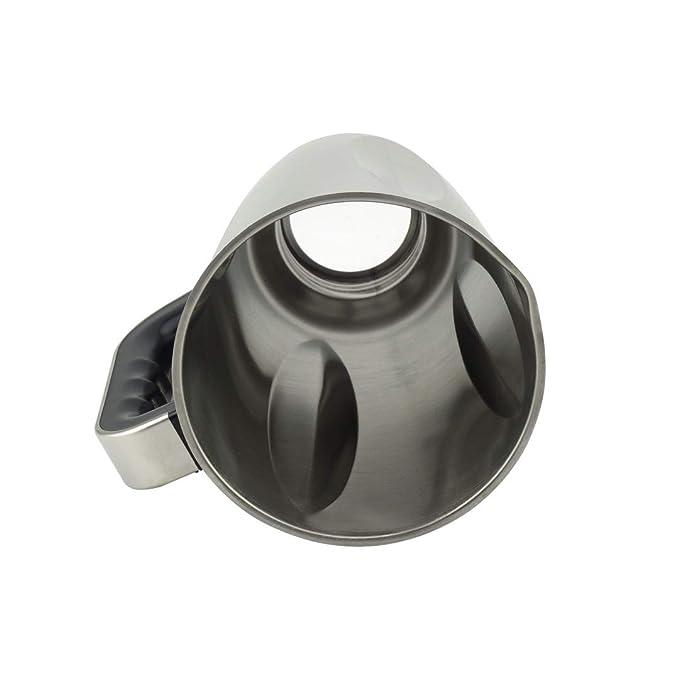 Amazon.com: Frasco de acero inoxidable de 6 tazas con asa y ...