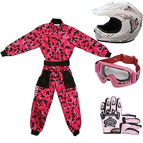 Amazon.es: Leopard LEO-X18 Casco de Motocross para Niños y ...