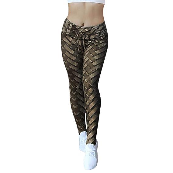 ❤️ Pantalones de Yoga Mujer Cintura Alta, Mujeres Yoga Shanto Imprimir Legging Correr Estiramiento Pantalones Deportivos Pantalón Absolute