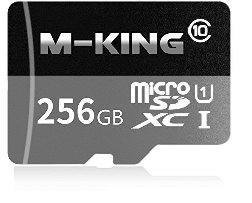 M-KING 256GB Micro SD SDXC Memory Card High Speed Class 10 with Micro SD Adapter, Designed for Android Smartphones, Tablets And Other Micro SD Card Compatible Devices by M-KING