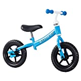 Tauki 12 Inch Kid Balance Bike, No Pedal Lightweight Push Bicycle for Kids Aged at 2 to 4 Years Old Boys and Girls, Blue/Orange, Blue/Pink, 95% Assembled