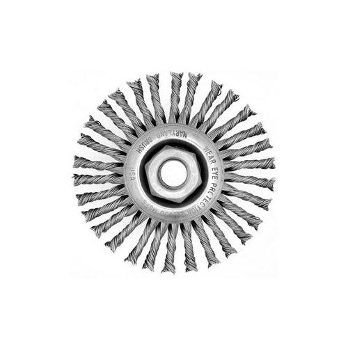 "Maryland Brush 42172 KT826, 6"" Stringer Bead Knot Wheel, 6"" x 3/16"" x 5/8"" -11 Thread, 0.020, 40 Knot"