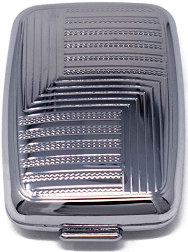 Silver Angles Pocket Purse Portable Pill Box (2 Compartments)