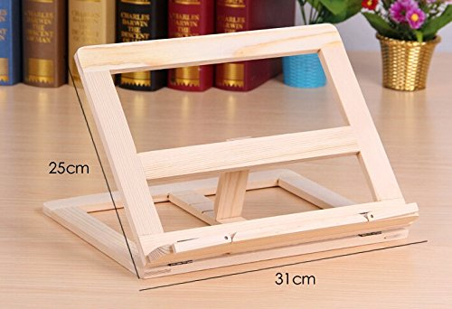 P2P@zita Wood bookstand laptop iPad book stand holder/Document stand holder Reading stand with 4 Adjustable Positions by P2P@zita (Image #3)