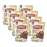 PRANA Organic Maca Power: 62% Chocolate bark Corn Flakes, Almonds & Maca - Vegan Snack, Superfood, Non-GMO, 8 x 100g