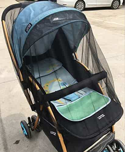 Cradles and Playpen,Universal Size, White FINENIC Mosquito Net for Baby Stroller,Efficient Insect Netting,High Elasticity and Permeability,Suitable for Baby Stroller Cribs Brown
