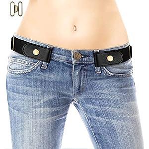 No Buckle Belt for Women/Men – Stretchy Elastic Waist Belts for Jeans Pants