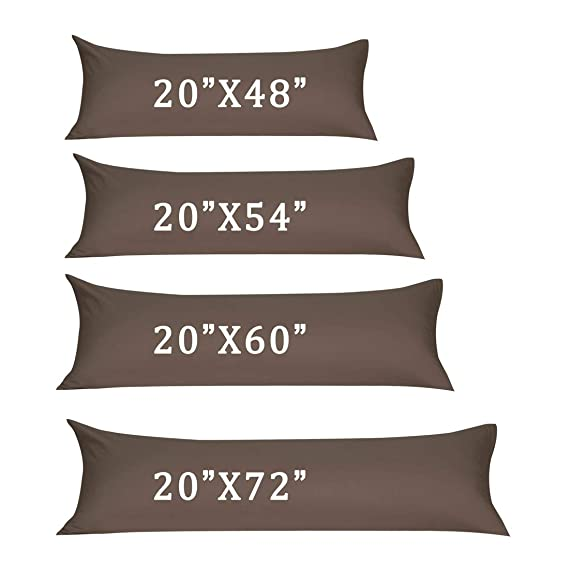 "Soft Microfiber Body Pillow Cover W Zipper Closure Long Cases For Pillows 20/""X48"