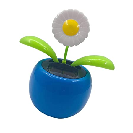 716eb84e5 FLAMEER Solar Powered Flip Flap Dancing Flower Toy For Car Dashboard Decor  Automatic Dancing Flower Toy Kid s Gift - Daisy