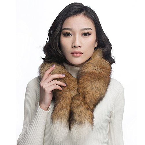 URSFUR Red Fox Fur Boa Scarf