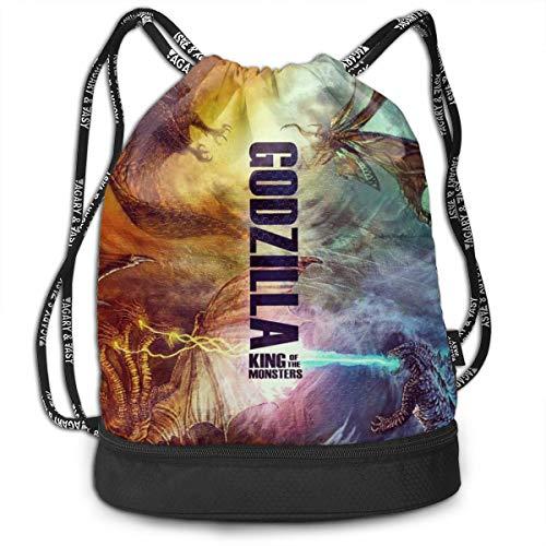 (Sheridan Reynolds Bundle Backpack God-zilla King Of The Monster Sport Sackpack Bag Drawstring Backpack)