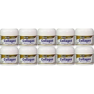 Collagen Beauty Cream Made with 100% Pure Collagen Promotes Tight Skin Enhances Skin Firmness 2 OZ. Jar PACK of 10